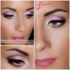soft pink makeup look with a cat eye liner pink eye makeup cat eyes makeup