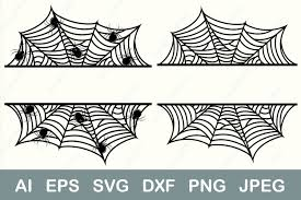 Bat, ghost, spider, cobweb circle, halloween monogram clipart png included for personal. Halloween Frame Spider Web Split Graphic By Anastasiyaartdesign Creative Fabrica