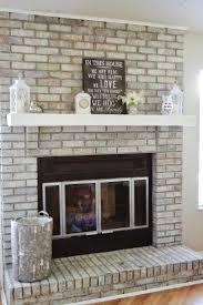 refacing fireplace brick with wood diy