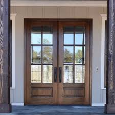 8 lite tdl mahogany double entry door