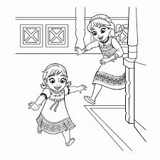 Kleurplaat Anna En Elsa Kleurplaat Vor Kinderen 2019