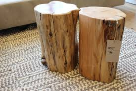 coffee table diy tree stump side tables a beautiful mess log end and 6a00d8358081ff69e2019101bc2890970c