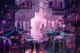 1920x1080 download wallpaper 1920x1080 night city, neon, city lights, street. 5839224 Neon City Artist Artwork Digital Art Hd 4k Artstation Cool Wallpapers For Me