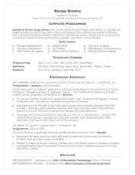 Sample Computer Programmer Resume Entry Level Programmer Resume Template Computer Programming