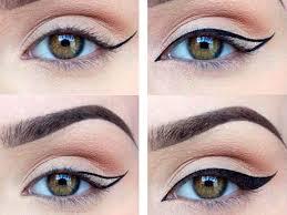 ровные стрелки широкие стрелки для увеличения глаз рисование
