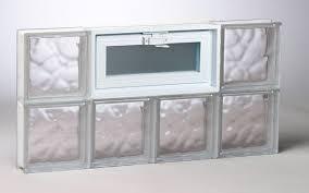 wavy pattern glass block window