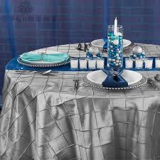pintuck 120 round tablecloth silver