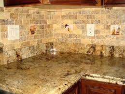 corner ideas for kitchens with granite countertop and backsplash images