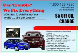 Auto Repair Flyer Auto Repair Postcard Flyer Templates Designsnprint