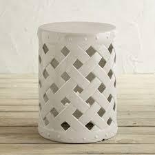 white garden stool round white garden stool87