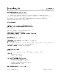 Certified Developer Resume Entry Level Web Developer Resume Templates At