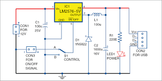 circuit diagram of add on usb power circuit for ups