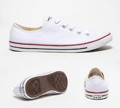 converse dainty white. converse womens chuck taylor all star dainty ox trainer white xe53274