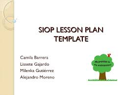 Siop Lesson Plan Template 1 Hands On Activity Presentation Siop Lesson Plan Template