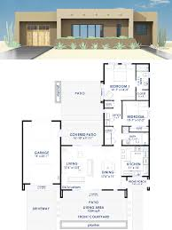 modern floor plans. Contemporary Adobe House Plan | 61custom Modern Floor Plans