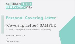 Formal Covering Letter Format Personal Covering Letter Guide And Samples For Visa