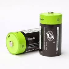<b>ZNTER</b> ZNT1-1-R 1pce 1.5V <b>6000mAh</b> USB Rechargeable D ...