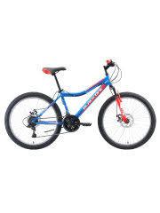<b>Велосипед Black One Ice</b> 24 D голубой/красный/серебристый ...