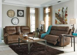 Two Loveseats In Living Room Austere Brown 38400 By Signature Design By Ashley Del Sol