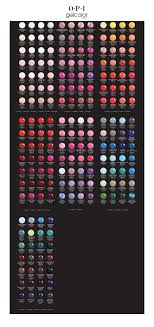 Opi Color Chart Gelcolor By Opi