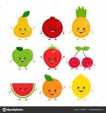 Cute Heureux Sourire Dr Le Fruits Crus Image Vectorielle