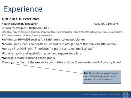 10 experience public health sample public health resume