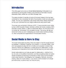 social media marketing plan templates sample example  format of social media marketing plan in education
