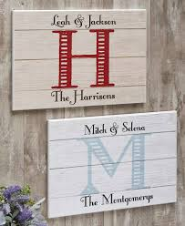 personalized monogram wall plaque
