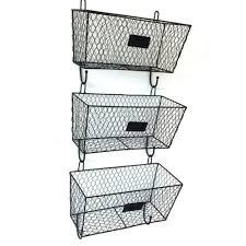 3x wall mount rack basket holder