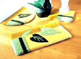 decorative bathroom rug sets decoration yellow rugs light bath set 3 designs modern plush home decorative bathroom rug