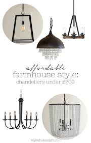 inexpensive farmhouse lighting