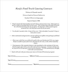 Catering Contract Template 1 Food Truck Catering