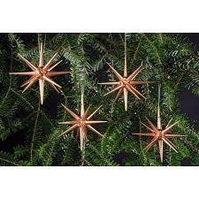 Christbaumschmuck Kupfer Große Weihnachtssterne 4 Teilig