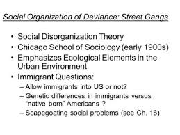 social disorganization and ecological criminology ppt video social disorganization theory chicago school of sociology early 1900s emphasizes ecological elements in the