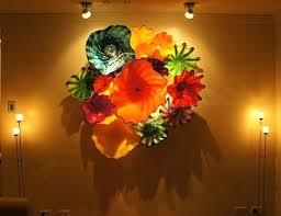 glass wall flowers wall art ideas design glass ceiling sculptural wall art artistic creative creations blown