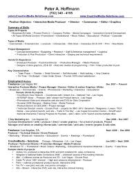 Video Production Resume Awesome Resume Skills Summary Examples
