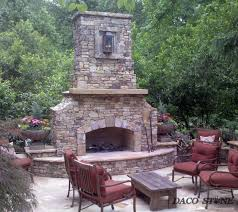 fireplace kits outdoor fireplaces and pits daco stone with fireplace kits