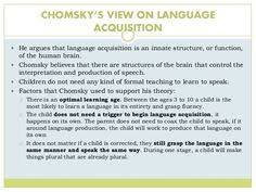 socio linguistics and language development this website gives a  language acquisition essay chomsky s and skinner s theory of language acquisition