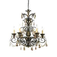 elk lighting chandelier chandeliers light in deep rust and crystal g outstanding with regard to modern elk lighting chandelier