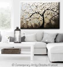 large framed wall art art abstract painting white flowering cherry tree blossoms textured trees blue grey taupe on huge framed wall art with wall art designs large framed wall art art abstract painting white