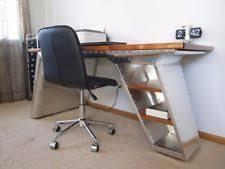 restoration hardware aviator desk. Solid Wood Top Aviator Desk African Mahogany Modern Industrial Aluminum Handmade Restoration Hardware R