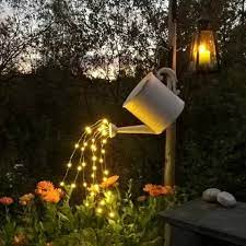 waterfall fairy lights for watering can