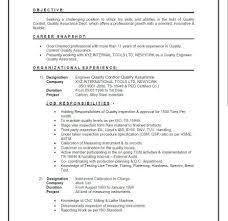 Quality Assurance Engineer Resume Template Free Resume Templates