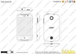 Acer Liquid Z2 vector drawing