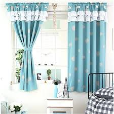 best blackout window treatments lovely cloud pattern blue polyester thick fabric blackout bay window curtain blackout