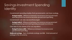 savings investment spending identity government spending implies that governments can have savings