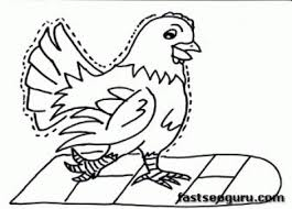 Small Picture Coloring Pages Chickens Walking Printable Coloring Pages For Kids
