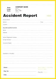 Accident Report Template Word Accident Report Form Template