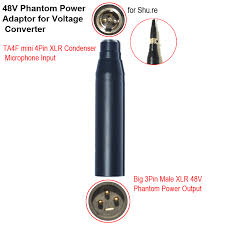 aliexpress com buy shipping high quality ta4f 4pin mini aliexpress com buy shipping high quality ta4f 4pin mini xlr4 to 3pin male xlr condenser microphone phantom connector 48v phantom adapter from