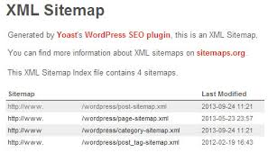 exle of wordpress seo sitemap
